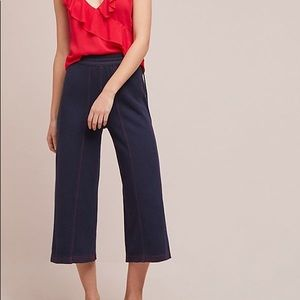 Anthropologie Muse Wide-Leg Terry Pants